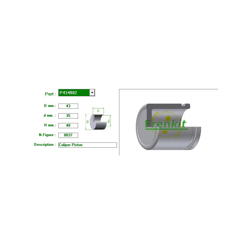 Tłoczek Zacisku Hamulcowego PRZÓD 43 mm do Subaru Impreza / Forester / Legacy / 26236PA010