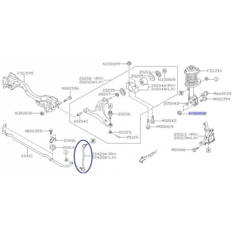 Łącznik stabilizatora przód lewy OEM do Subaru Legacy / Outback 2015 / 20420AL010