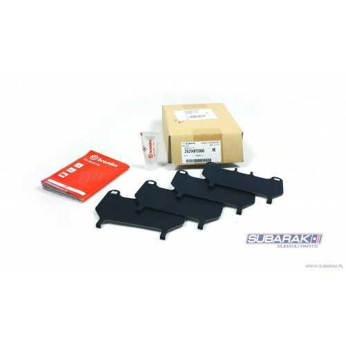 Blaszki Wygłuszające Klocków Przednich do Subaru Impreza STI oraz BRZ Zacisk Brembo 4 Tłoczki / 26298FE000