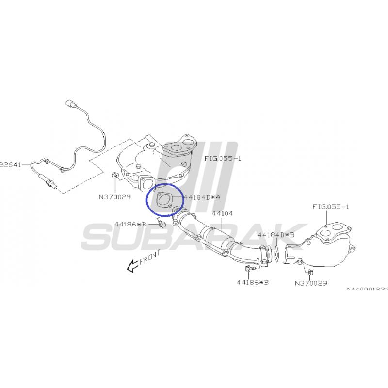 Uszczelka kolektora wydechowego do Subaru Turbo 44011FA020