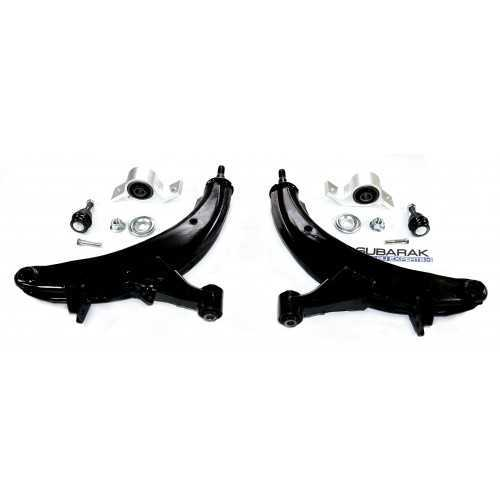 Front Lower Control Arms with Bushings and Ball Joints Kit - fits Subaru Forester SG
