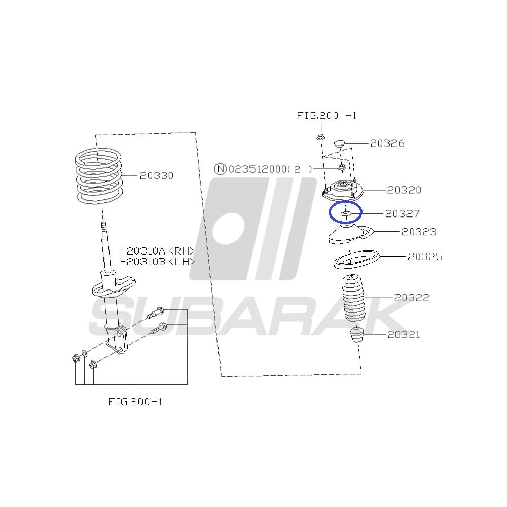 Genuine Subaru Upper Seat Spacer 20326aa000