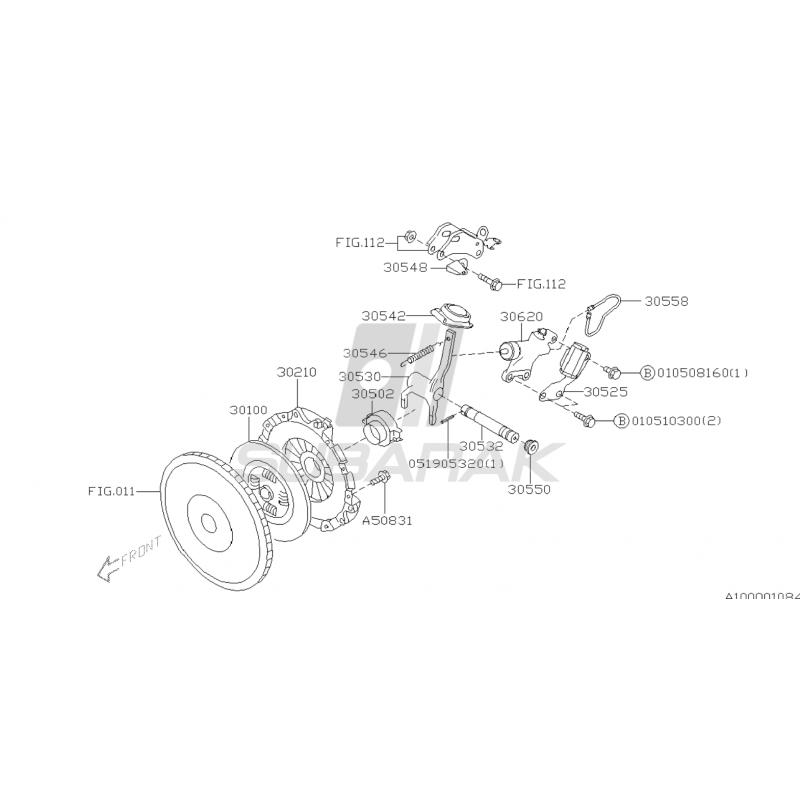 Sprężyna Łapy Sprzęgła do Subaru 6MT STI / H6 / 30546AA060