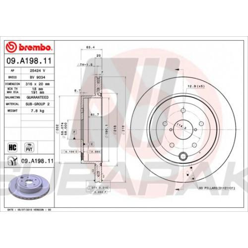 Brembo 326mm Brake Discs FRONT fits Subaru Impreza STI (5x114,3mm hubs)