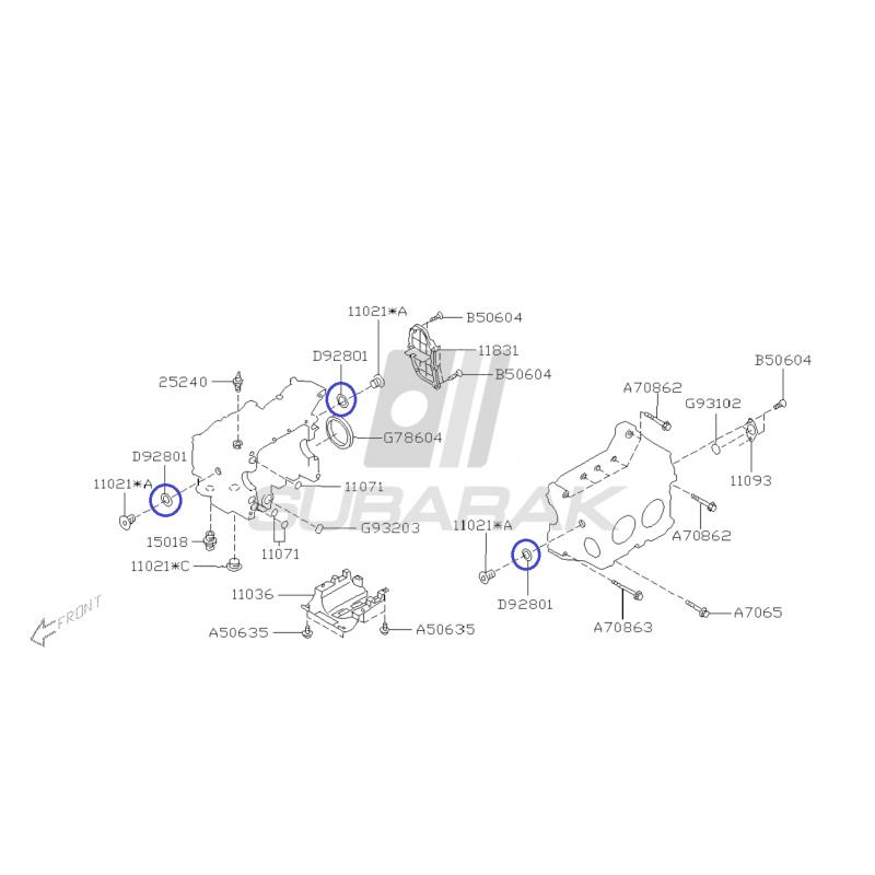 Uszczelka Bloku Śruby Rewizyjnej do Subaru z Silnikami EJ / 803928010