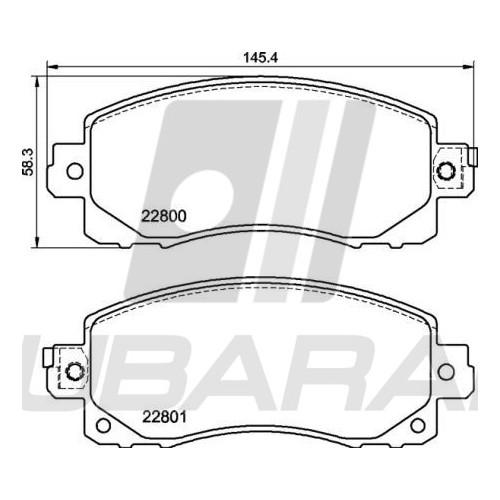 BREMBO Brake Pads Front fit Subaru Impreza / Forester / XV from 2017