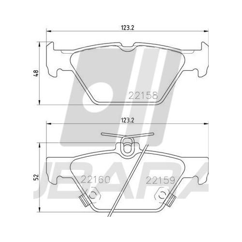 Klocki hamulcowe przód BREMBO do Subaru Impreza / Forester / XV od 2017