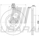 Brake Disc Front Delphi for Subaru XV / Impreza 2017-