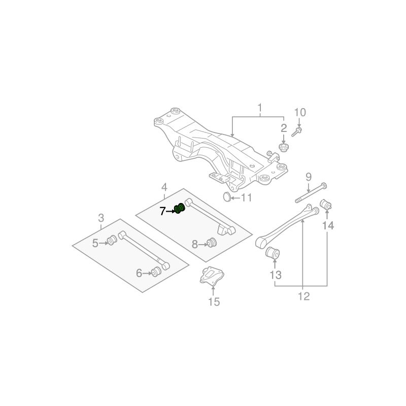 Wewnętrzna tuleja tylnego wahacza poprzecznego do Subaru 20251AA061