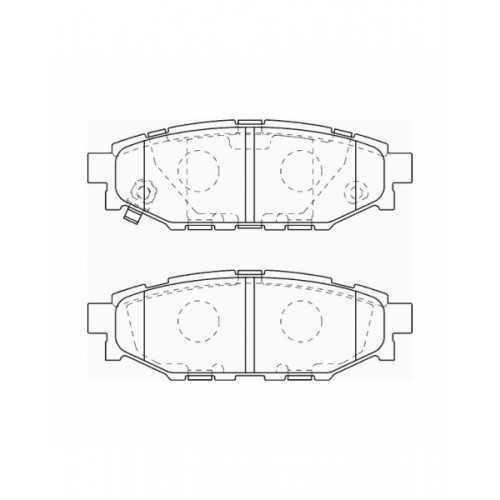 Klocki hamulcowe REMSA do Subaru Impreza / Forester / Legacy TYŁ