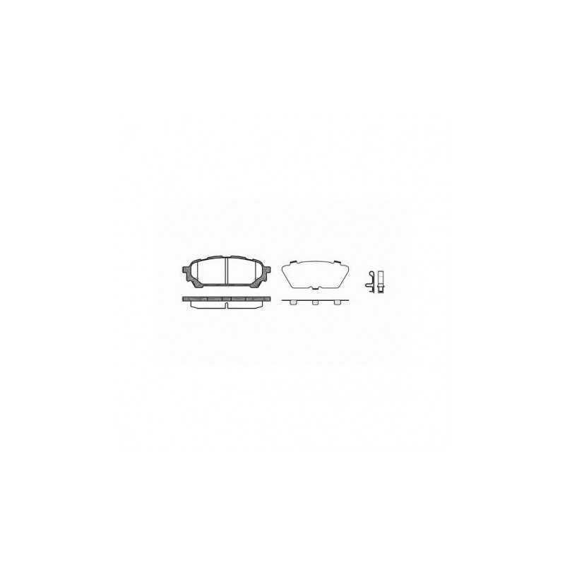 Klocki hamulcowe REMSA do Subaru Impreza / Forester TYŁ