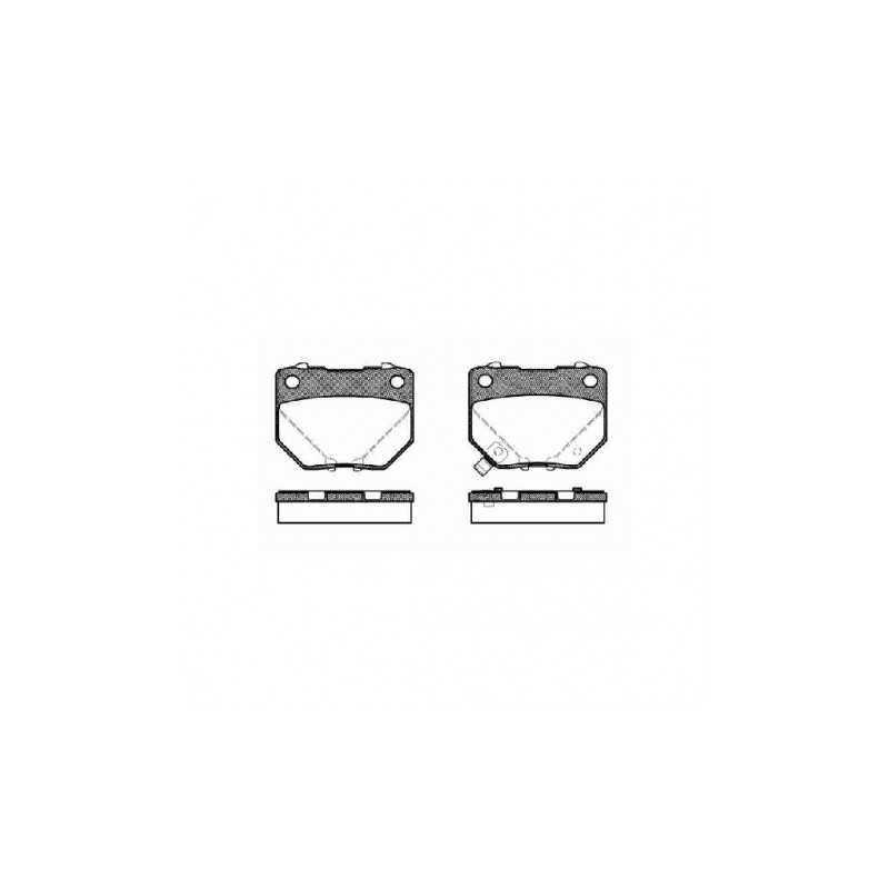 Klocki hamulcowe REMSA do Subaru Impreza GT / WRX TYŁ (dwutłoczek)