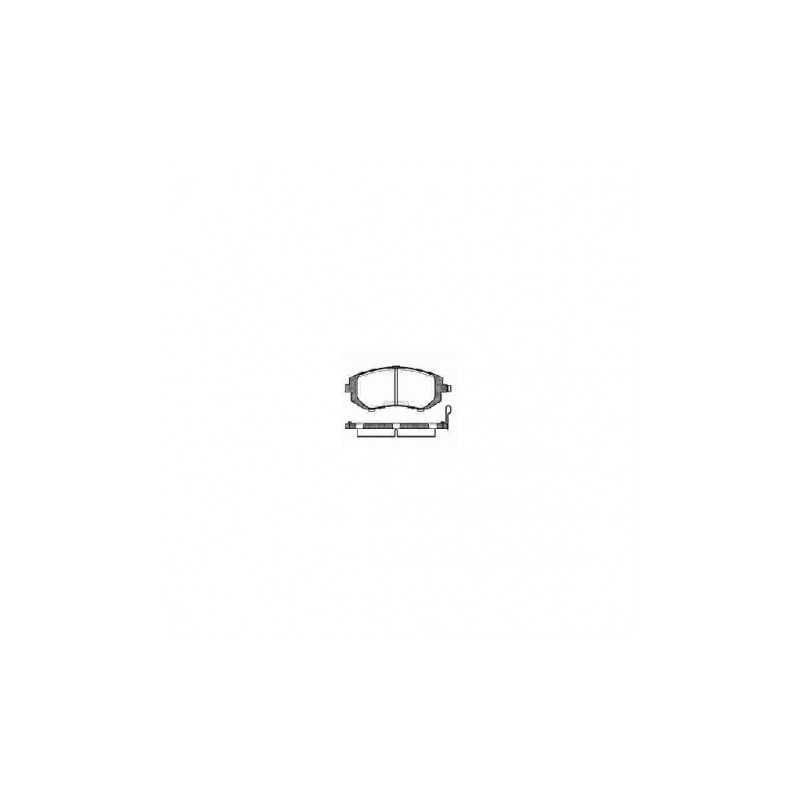 Klocki hamulcowe REMSA do Subaru Impreza / Forester / Legacy / BRZ PRZÓD