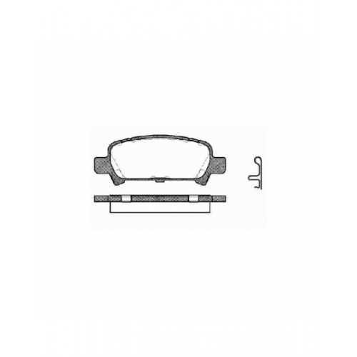REMSA Brake Pads Rear fit Subaru Impreza / Forester / Legacy