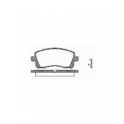 REMSA Brake Pads Front fit Subaru Impreza / Forester / Legacy