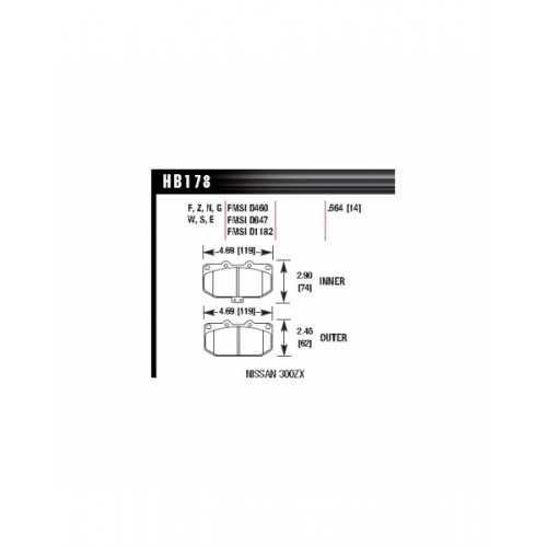 REMSA Brake Pads Front fit Subaru Impreza GT / WRX
