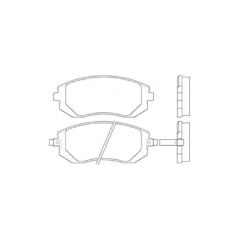 Klocki hamulcowe GALFER do Subaru Impreza / Forester / Legacy / BRZ PRZÓD