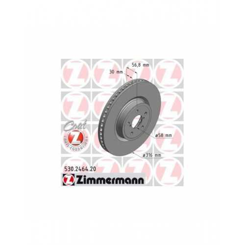 Zimmermann 316mm Brake Discs FRONT fits Subaru Legacy / Outback