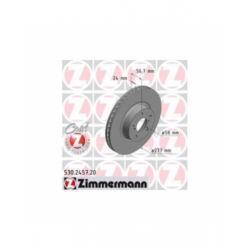 Tarcze hamulcowe Zimmermann 277mm PRZÓD do Subaru Impreza / Forester / Legacy / Outback
