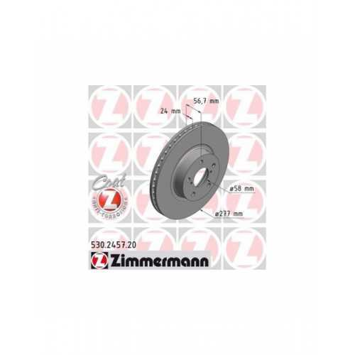 Zimmermann 277mm Brake Discs FRONT fits Subaru Impreza / Forester / Legacy / Outback