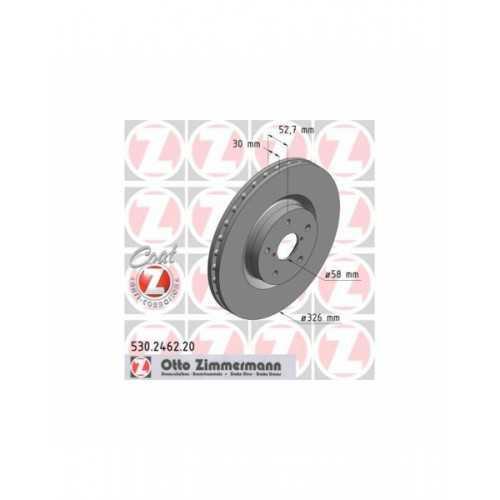 Zimmermann 326mm Brake Discs FRONT fits Subaru Impreza STI (5x114,3mm hubs)