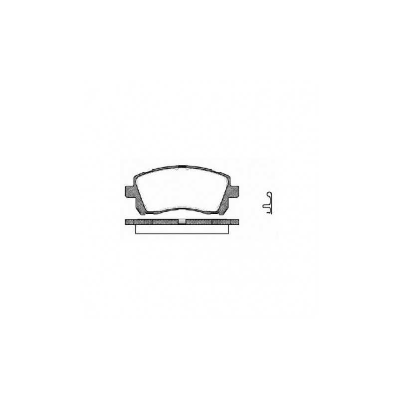 Klocki hamulcowe GALFER FDT1055 do Subaru Impreza / Forester / Legacy PRZÓD