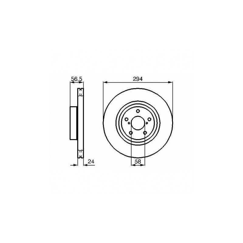 Tarcze hamulcowe Brembo 294mm PRZÓD do Subaru Impreza / Forester / Legacy / Outback