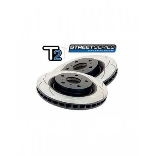 DBA Street T2 326mm Brake Discs FRONT fit Subaru Impreza STI