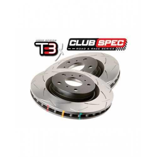 DBA 4000 T3 316mm Brake Discs REAR fits Subaru Impreza STI
