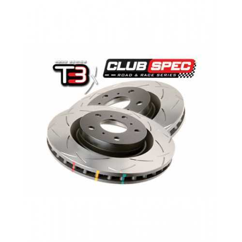 DBA 4000 T3 326mm Brake Discs FRONT fit Subaru Impreza STI