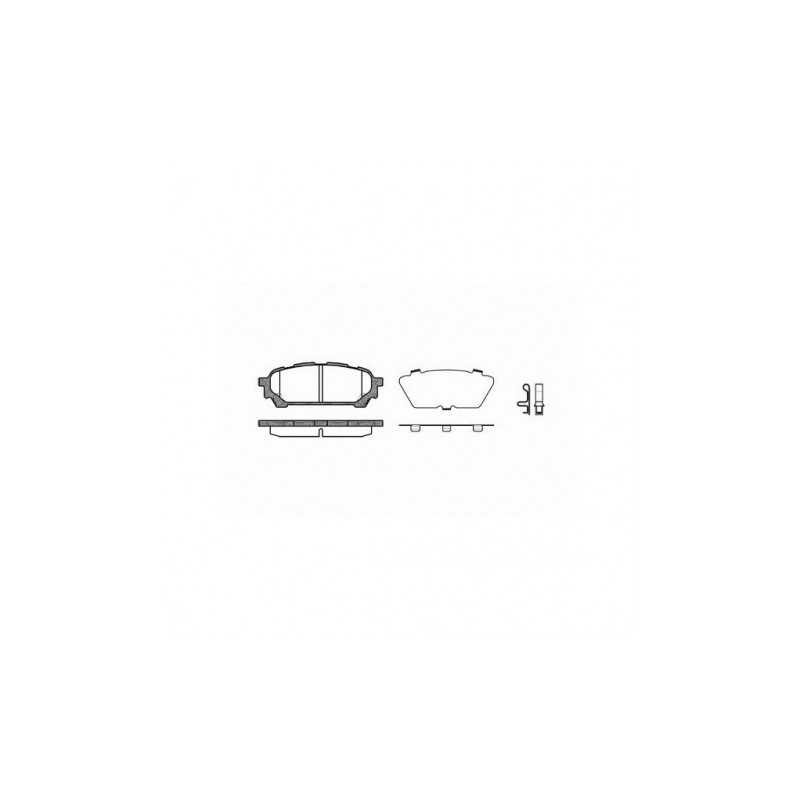 Klocki hamulcowe Hawk Performance Ceramic do Subaru Impreza / Forester TYŁ