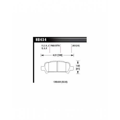 Hawk Performance Ceramic REAR Brake Pads fit Subaru Impreza / Legacy / Forester