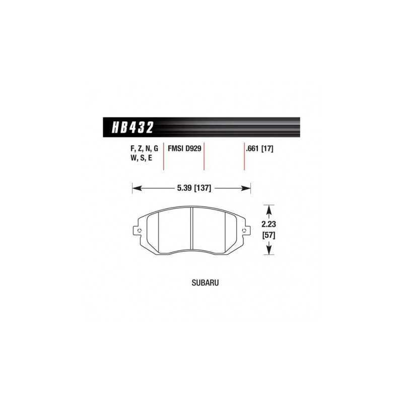 Klocki hamulcowe Hawk Performance Ceramic do Subaru Impreza / Forester / Legacy PRZÓD