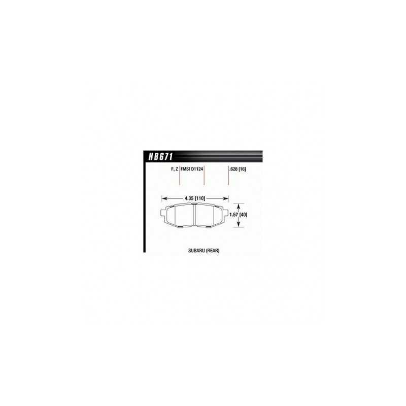 Klocki hamulcowe Hawk Performance HPS 5.0 do Subaru Legacy / Outback / Tribeca TYŁ