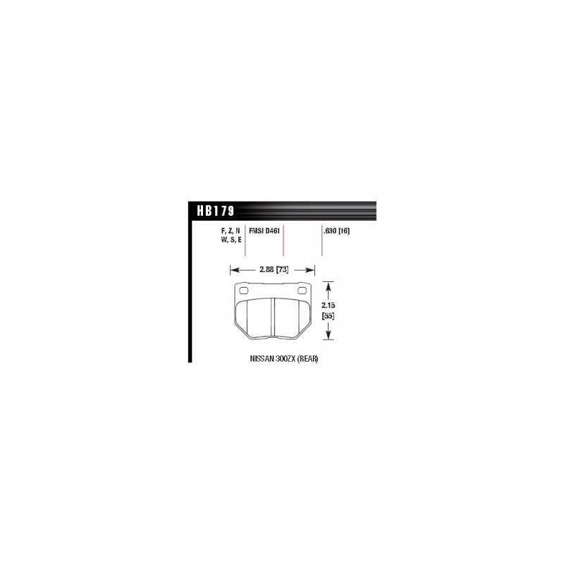 Klocki hamulcowe Hawk Performance HPS 5.0 do Subaru Impreza GT / WRX TYŁ (2-tłoczek)