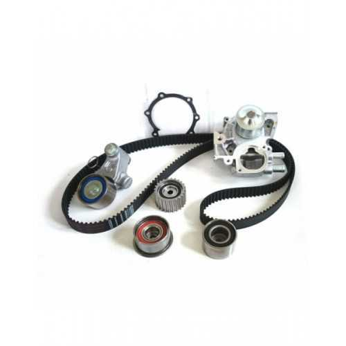 Tminig belt kit with water pump for Subaru Impreza / Legacy / Forester. Two water connections at one side, SOHC engines