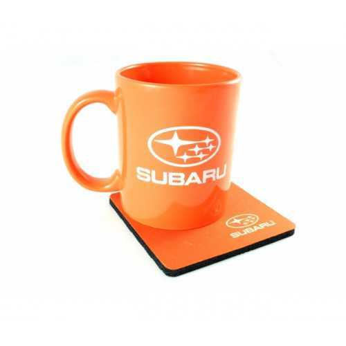 Subaru Orange Mug with Stand