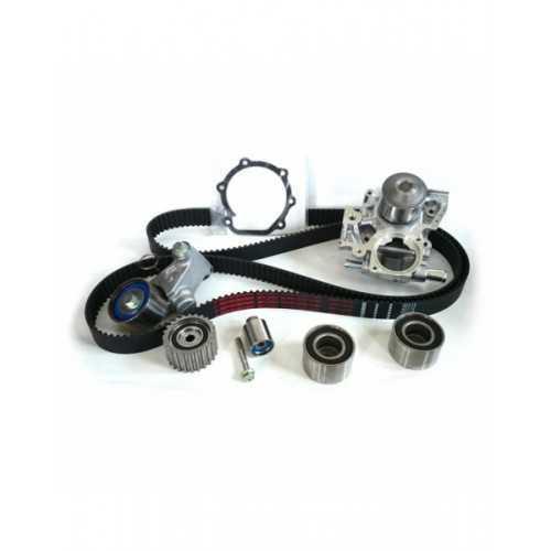 Zestaw rozrządu do Subaru DOHC z pompą wody OEM dwa przeciwległe króćce